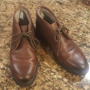 Shearling Lined Frye Leather Chukka Boot 9D